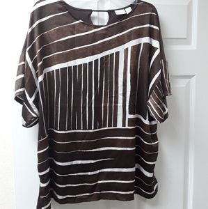 Chico's brown and white top
